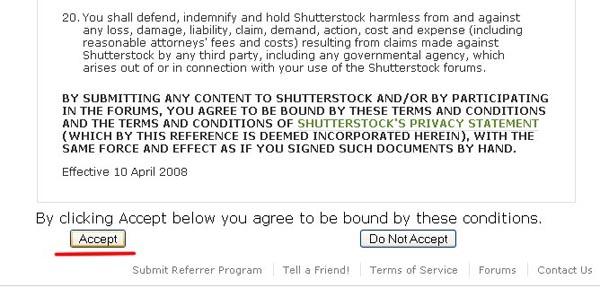 Инструкция по регистрации на shutterstock.com