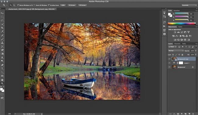 как сделать винтажное фото в Photoshop шаг 2