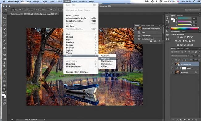 как сделать винтажную фотографию в Photoshop шаг 3