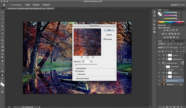 как сделать винтажную фотографию в фотошопе шаг 7