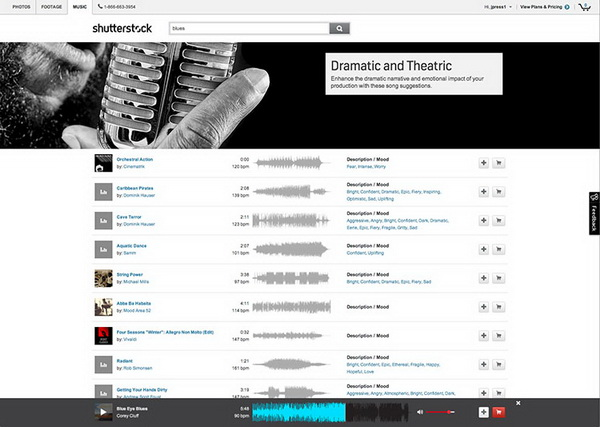 поиск музыкальных композиций