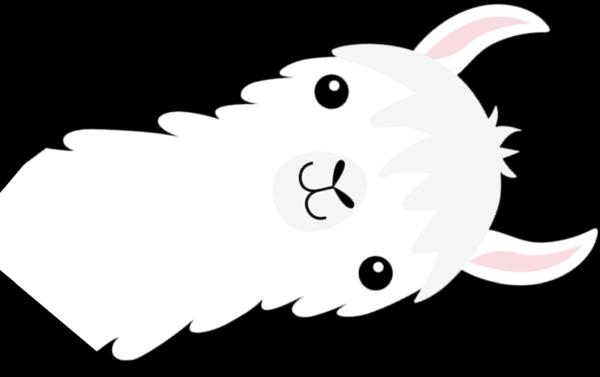 рисованная лама