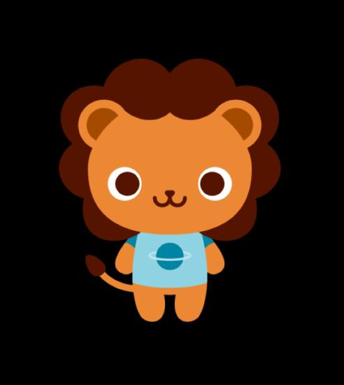 милый львенок на рисунке