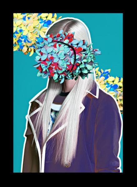 Zine-культура: портрет девушки с лицом из листьев